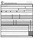 Form Il446-0153 - Resident Business Entity License