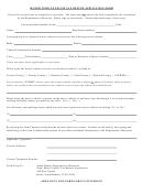 Motor Vehicle Excise Tax Refund Application Form