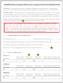 Simplified Duty Savings Estimator For Foreign-trade Zone Manufacturing Form