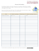 Freezer Inventory Spreadsheet Template