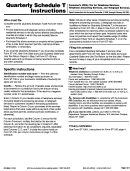 Form St-100.b - Quarterly Schedule T Instructions - State Of New York