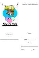 College Trunk Party Invitation Template