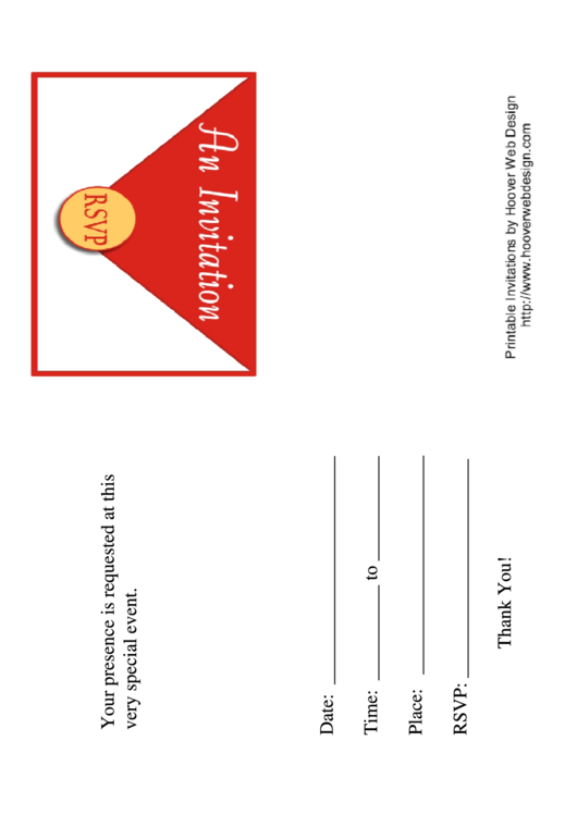 Special Event Invitation Template Printable pdf