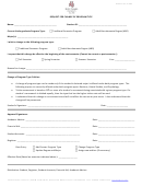 Request For Change Of Program Type Form