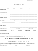 City Of Lamar Business License Application Form - 2010