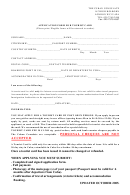 Application Form For Tourist Card