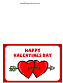 Happy Valentines Day Hearts Card Template