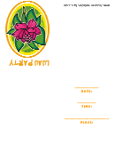 Luau Party Invitation Template