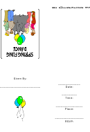 Spring Fling Party Invitation Template