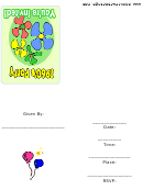 60s Party Invitation Template