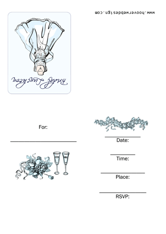 Bridal Luncheon Invitation Template Printable pdf