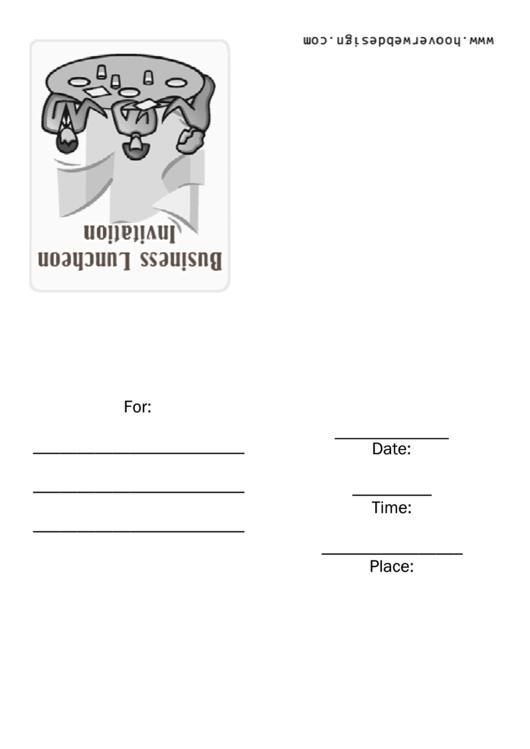 Business Luncheon Invitation Template Printable pdf