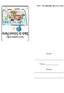 Back To School Party Invitation Template