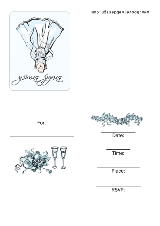 Bridal Brunch Invitation Template Printable pdf