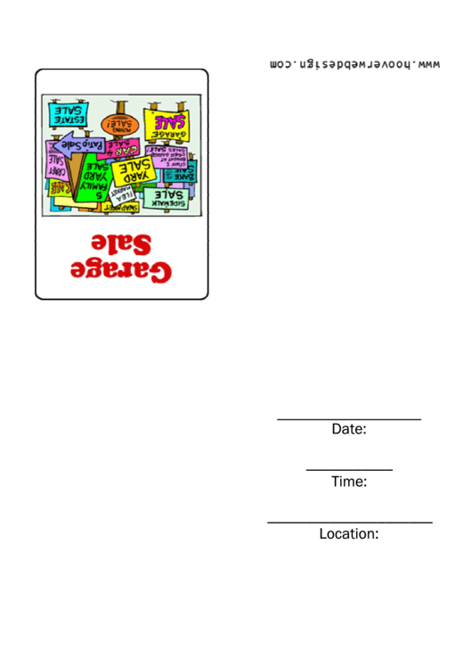 Garage Sale Invitation Template