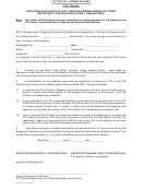 Letter Of Undertaking - Coe Rebate Form