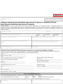 Form 3676 - Affidavit Attesting That Qualified Agricultural Property Or Qualified Forest Shall Remain Qualified Agricultural Property 2010