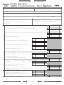 Form 100w - California Corporation Franchise Or Income Tax Return - Water's-edge Filers - 2006