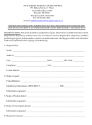 Form Njbos-4 - Information Request Form For Central Registration Depository And/or Investment Adviser Registration Depository Information