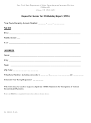 Form 1099g - Request For Income Tax Withholding Report