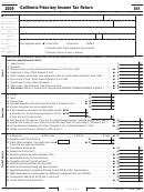 Form 541 - California Fiduciary Income Tax Return - 2009