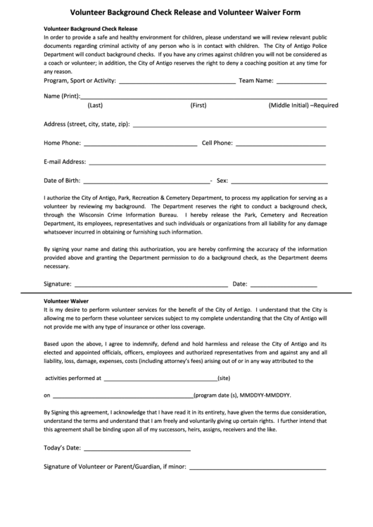 Top 8 Background Check Release Form Templates free to download in ...