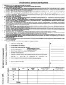 City Of Pontiac Estimate Instructions 2006
