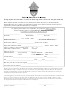 Employee/volunteer Criminal Background Check Authorization