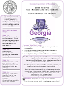 Telefile Tax Record And Instructions - Income Tax Return - Georgia Department Of Revenue - 2001