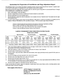 Instructions For Preparation Of Contribution And Wage Adjustment Report Form Missouri - Employer Accounts Unit Division Of Employment Security