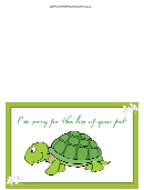 Pet Turtle Sorry For Your Loss Pet Sympathy Card Template