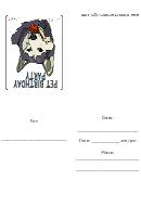 Husky Dog Birthday Party Invitation Template