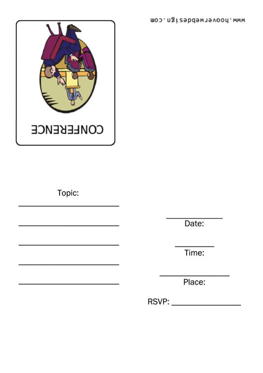 Conference Invitation Template Printable pdf