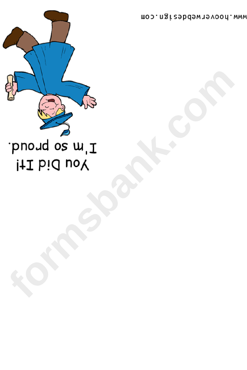 You Did It Graduation Printable Greeting Card Template