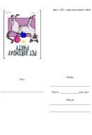 Siamese Cat Birthday Party Invitation Template