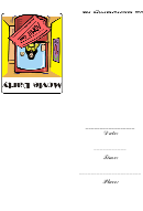 Movie Party Ticket Booth Template
