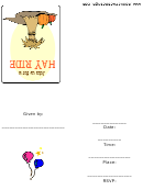 Join Us For A Hay Ride Invitation Template