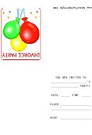 Divorce Party Invitation Template