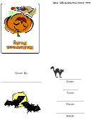 Halloween Party Invitation With Pumpkin Template