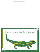 Pet Lizard Sorry For Your Loss Pet Sympathy Cards Template