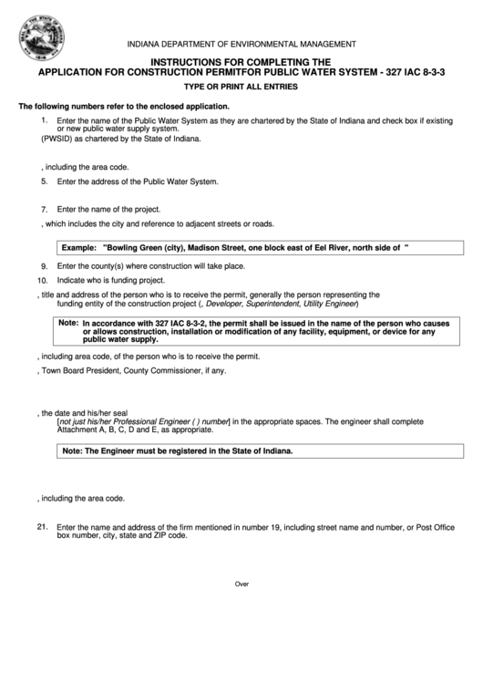 Form 35058 - Application For Construction Permit For Public