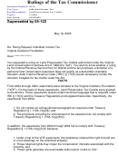 Form 05-76 - Rulings Of The Tax Commissioner
