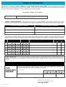 Form 04-083 - Change Of Information Template