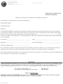 Application For Relief From Contract Voidability Form - 2000