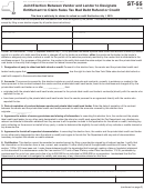 Form St-55 - Joint Election Between Vendor And Lender To Designate Entitlement To Claim Sales Tax Bad Debt Refund Or Credit