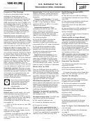 Form 1040-es (nr) - U.s. Estimated Tax For Nonresident Alien Individuals - 2007