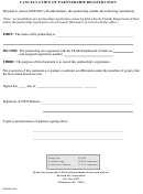Cancellation Of Partnership Registration Form - Florida Department Of State