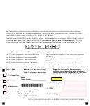 Form Pr - Montana Partnership Tax Payment Voucher