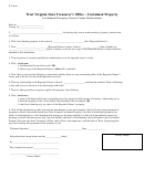 Unclaimed Property Estate Claim Declaration Form