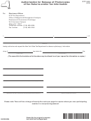 Form Dtf-505 - Authorization For Release Of Photocopies Of Tax Returns And/or Tax Information - Nys Tax Department